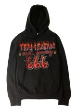 画像1: TEAM SATAN x EXPANSION NY CUSTOM MADE HOODIE (1)