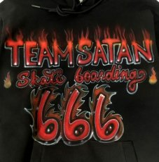 画像2: TEAM SATAN x EXPANSION NY CUSTOM MADE HOODIE (2)