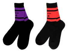 画像1: TEAM SATAN SKATEBOARDING SOCKS SET (1)