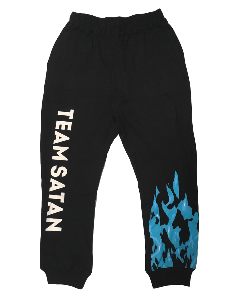 画像1: TEAM SATAN SKATE BOARDING FLAME SWEAT PANT (1)