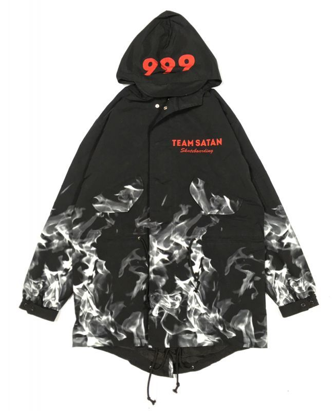 画像1: TEAM SATAN SKATE BOARDING FISHTAIL COAT (1)