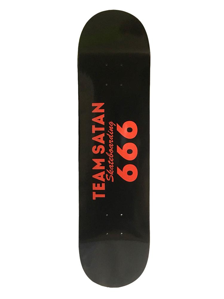 画像1: TEAM SATAN SKATE BOARDING SKATE DECK (1)