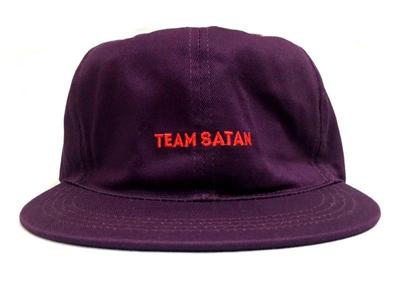 画像1: TEAM SATAN SKATE BOARDING STRAPBACK CAP (1)