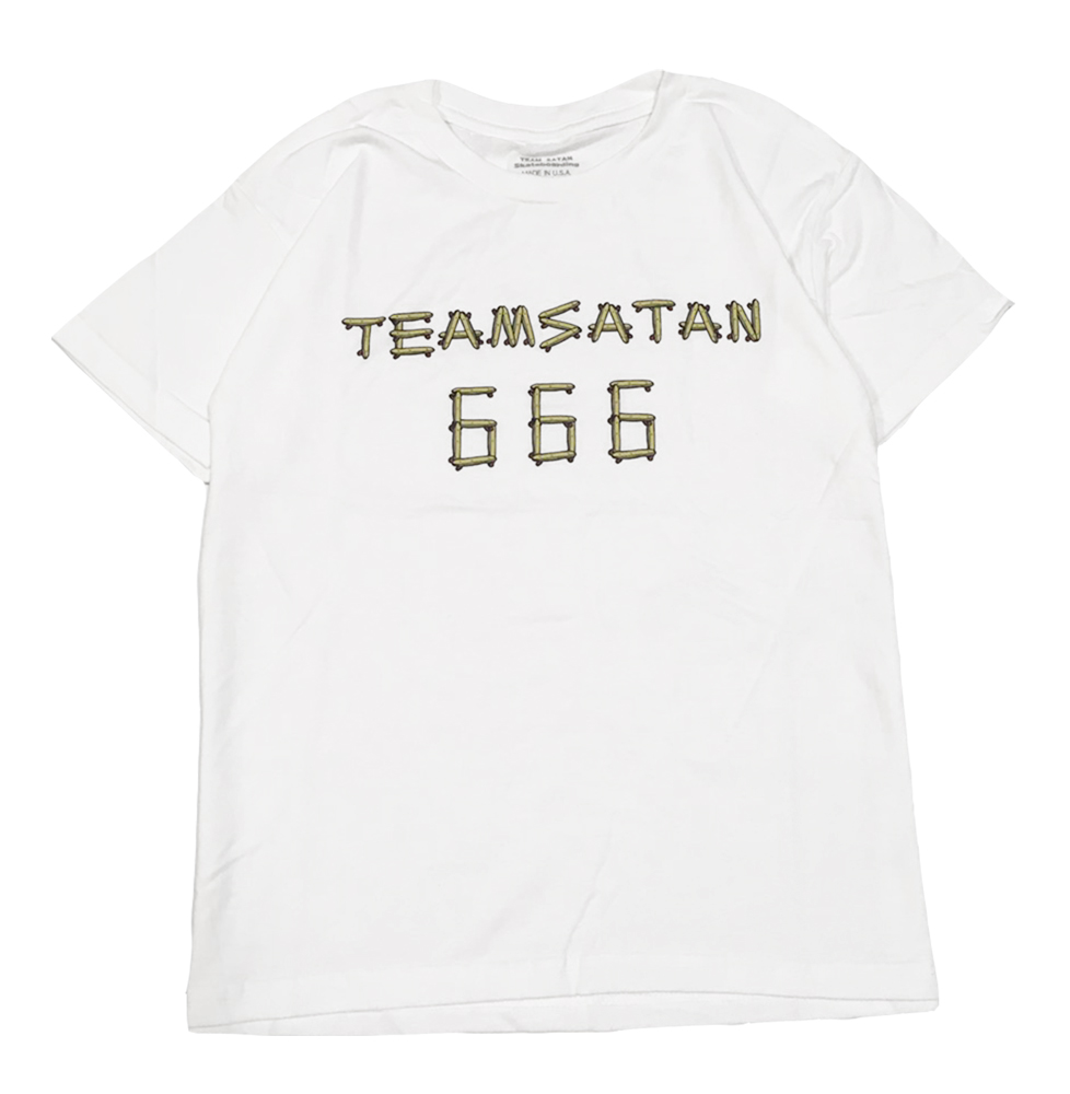 画像1: TEAM SATAN SKATE BOARDING KIDS S/S TEE SHIRT (1)